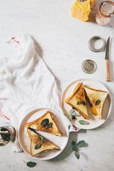 grilled cheese sandwiches with sage and apple-cranberry chutney