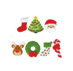 Shop Edible Toppings, Cake Decorations + Toppers at Bakers Party Shop Page 2 Christmas Cupcake Toppers, Holiday Cupcakes, Peanut Tree, Sugar Mold, Candy Sprinkles, Nut Allergies, Party Shop, Frozen Desserts, Icing Decorations