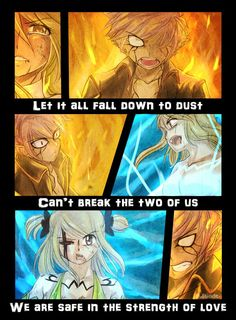E.N.D. || Let it all fall down to dust. Can't break the two of us. We are safe in the strength of love. || Part Two Fairy Tail Sad, Sad Fairy, Fairy Tail Quotes, Fairy Tail Natsu And Lucy, Fairy Tail Ships, Love Fairy, Fairy Tail Anime, Fairy Tales, Fairy Tail Couples