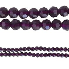 Bead Gallery® Round Faceted Glass Beads, Purple - Item # 10471947 - $5.99    Add a pop of color to your jewelry-making projects with these Bead Gallery glass beads. Make pretty bracelets, necklaces and earrings with these faceted beads. You can also use the beads to craft beaded keychains.     Details: Purple; 6 mm bead size; 38 beads; Glass