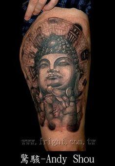 halo and smoke around the #Buddha #tattoo