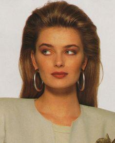Paulina Porizkova, 1980s Makeup And Hair, Retro Makeup, Catwalk Models, 90s Models, 80s Fashion, Fashion Models, Vintage Fashion, Original Supermodels