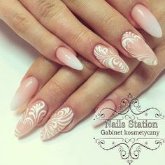 Ślubne paznokcie Nail Station, Amazing Nails, Malu, Fun Nails, Pedicure, Nailart, Hair Beauty, Photos, Gel Nail