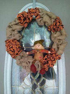 Fall Burlap Wreath