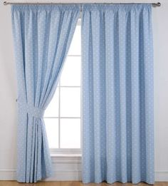 "Spotted Dotty Blackout Pencil Pleat Curtains Powder Blue 66"" x 54"" in Cath Kidston Vintage Style Look, http://www.amazon.co.uk/dp/B007XFA0T6/ref=cm_sw_r_pi_awd_87Vtsb1AMFSZW"