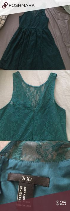 Forever 21 dress Teal lace forever 21 dress NWOT Forever 21 Dresses Mini