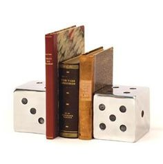 bookends. an idea that could turn into a diy craft.
