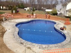 This Mountain Pond Shaped Pool Really Added A Tropical Feel To This Backyard Located In Dundalk