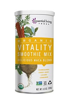 Essential Living Vitality Smoothie Mix Maca Blend Raw 115 Ounce USDA Organic >>> You can get more details by clicking on the image.
