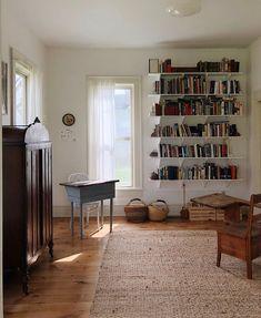 Sisal Rug And Bookshelves Home Living Room, Living Room Decor, Living  Spaces, House