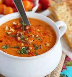 Roasted Sweet Corn And Tomato Soup...a little sweet, but will make again
