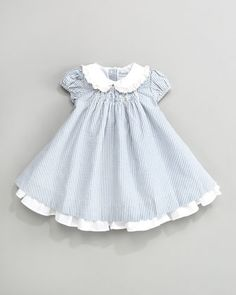 Seersucker Dress by Ralph Lauren Childrenswear at Bergdorf Goodman. good start for an alice costume, all we would need is the apron and little black shoes :)