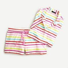 Crew for the Dreamy short-sleeve pajama set in rainbow stripe for Women. Find the best selection of Women Sleepwear & Loungewear available in-stores and online. Sleepwear & Loungewear, Sleepwear Women, Kids Sleep, Pj Sets, Workout Tops, Pajama Set, Lounge Wear, Street Style