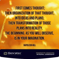 Thought ~ Napolean Hill Great Quotes, Abundance, Leadership, Coaching, Posters, Thoughts, How To Plan, Words, Inspiration