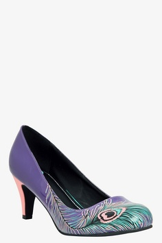 T.U.K. - Purple Peacock Heels ..... This would be the PERFECT addition to my shoes!