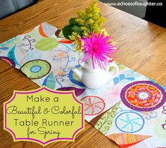 Echoes of Laughter: Make a Pretty Table Runner + Sears Sewing Machine Giveaway!