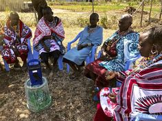 to the Maasai women's group we recently met with. The group were listening to prerecorded radio programmes on farming in the Maa language on our Lifeplayer · · · ·