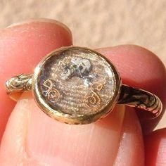 1690s Memento Mori Stuart Crystal Enameled Skull And Crossbones Hair Mourning Ring