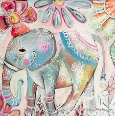 Happy Elephant, Elephant Walk, Wild Elephant, Elephant Love, Elephant Information, Elephants Never Forget, Elephant Sanctuary, Amazing Paintings, Vintage Postcards