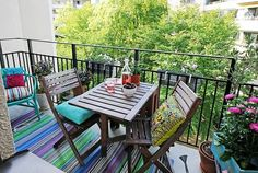 Would love to have a balcony like this one! Cozy Ideas To Design Your Balcony