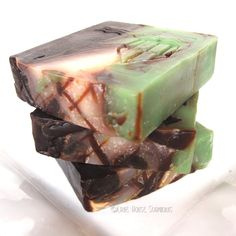 Chocolate Mint Cold Process Soap with Cocoa