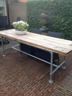 Furniture, Garden Table, New Homes, Table, Home Decor, Diy Boards, Home Deco, Picnic Table, Pallet Table