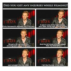 Tom Hiddleson about Thor