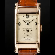 Rolex 18K Rose Gold Silver Dial Rectangular Prince 3937 http://www.watchcentre.com/product/rolex-18k-rose-gold-silver-dial-rectangular-prince-3937/1417