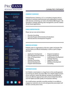 37 Best Capability Statement Images Statement Template