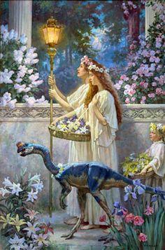 Dinotopia: The World Beneath ~ artist James Gurney  #art #painting #fantasy