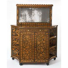 Cabinet, 1800-1820. Regency Furniture, Antique Furniture, Furniture Decor, Painted Furniture, Art Nouveau, Regency Era, Painting On Wood, 18th Century, Mirror