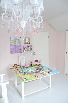 Homemade LEGO Friends Heartlake City play board @ a beautiful little life: door 4