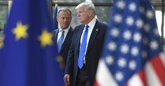 Trump meets top EU officials on his first Brussels trip #Politics #iNewsPhoto