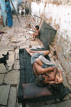 This breaks my heart. India street children.