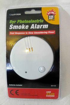 5 Yr Photoelectric Home Optical Smoke Fire Alarm Lifesaver Loud 85db LLOYTRON