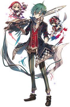 「グリムノーツ」1周年を記念した特別なムービーが公開に。アニバーサリーイベントも開催 - 4Gamer.net Character Design References, Game Character, Character Concept, Anime Oc, Anime Guys, Manga Anime, Manga Characters, Fantasy Characters, Anime Style