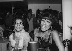 Elegance Personified: Legendary Beauties, Ruby Dee and Josephine Premice at the Cotton Club, circa 1978.