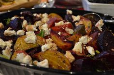 Roasted Beets with Goat Cheese by majamaki, via Flickr