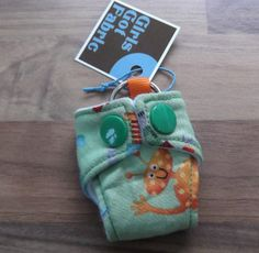 Cloth Diaper Cloth Nappy Mini Keychain Keyring Makower Robots £3