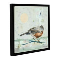 ArtWall Ninalee Irani's Robin, Gallery Wrapped Floater-framed (14x14)