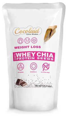 Cocolaid - WEIGHT LOSS - Chia Shakes - WHEY & CHIA. Complete Meal Shakes Chia Seeds Protein, Soy Protein, Meal Shakes, Weight Loss Shakes, Shake Recipes, Vitamins And Minerals, Chips, Gluten, Snacks