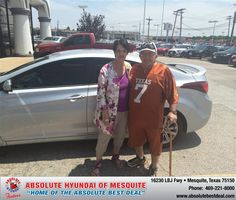 My husband and I were very impressed with the friendliness and professionalism of the whole Absolute Hyundai Staff. Our salesman Jerry Michalak was great. It is a great place to buy a car when you have a few bumps in your credit! We are so pleased with our brand new Elantra!  Barbara P. Newman Tuesday, July 15, 2014
