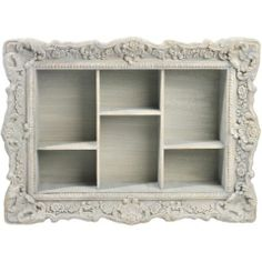Picture Frame Shelving Unit in Powder Green - Casafina Picture Frame Shelves, Frame Shelf, Wood Picture Frames, Pallet Art, Diy Pallet Projects, Painted Furniture, Home Furniture, Distressed Frames, Wood Crafts