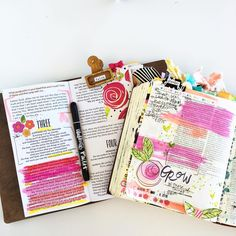 """Shanna Noel on Instagram: """"Layers of study happening today in the @illustratedfaith Beautiful kit featuring @valeriewieners - loving every moment of this study!!! I also have a feeling there will be lots of flowers happening during these 14 days!  #illustratedfaith #dayspring #bellablvd #devotional #amen #artjournal #faith #bibleitsthebookforme #biblejournaling"""""""