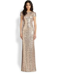 Love the Sequin Cowl-Back Gown on Wantering.