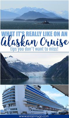 Learn what it's really like on an Alaskan Cruise! Sail with Princess Cruise Lines on a 7 day cruise to Alaska. Travel tips and hacks, what to see where to eat and the best excursions. Travel advice the cruise lines won't tell you! Alaska Cruise Princess, Alaska Cruise Tips, Princess Cruises, Alaska Travel, Alaska Trip, Packing List For Cruise, Cruise Travel, Cruise Vacation, Vacation Trips