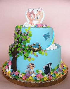 Bambi and Faline cake | Flickr - Photo Sharing!  Love this cake and the style of her tree! (bubolinkata, Flickr)