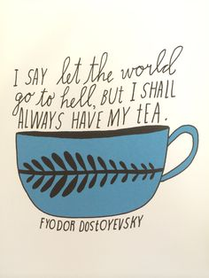 Tea fixes everything