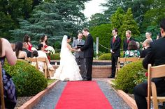 Outdoor Ceremony At The Rose Garden Memphis Botanic Wedding By Southern Event Planners