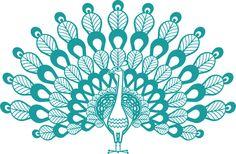 peacock (XXL) - NURSERY & KIDS ROOM DECOR | Nursery Wall Decals | Giant Kids Wall Stickers | Baby Wall Decals